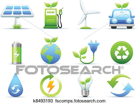 450x336 Clipart Of Environmental Amp Green Energy Icons K8493193