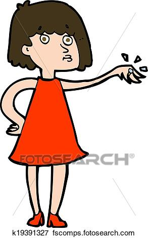 293x470 Clip Art Of Cartoon Woman Showing Off Engagement Ring K19391327