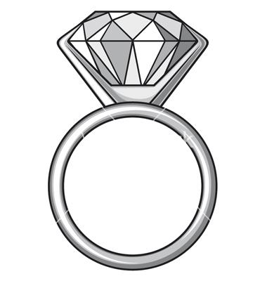 380x400 Diamond Ring Clip Art
