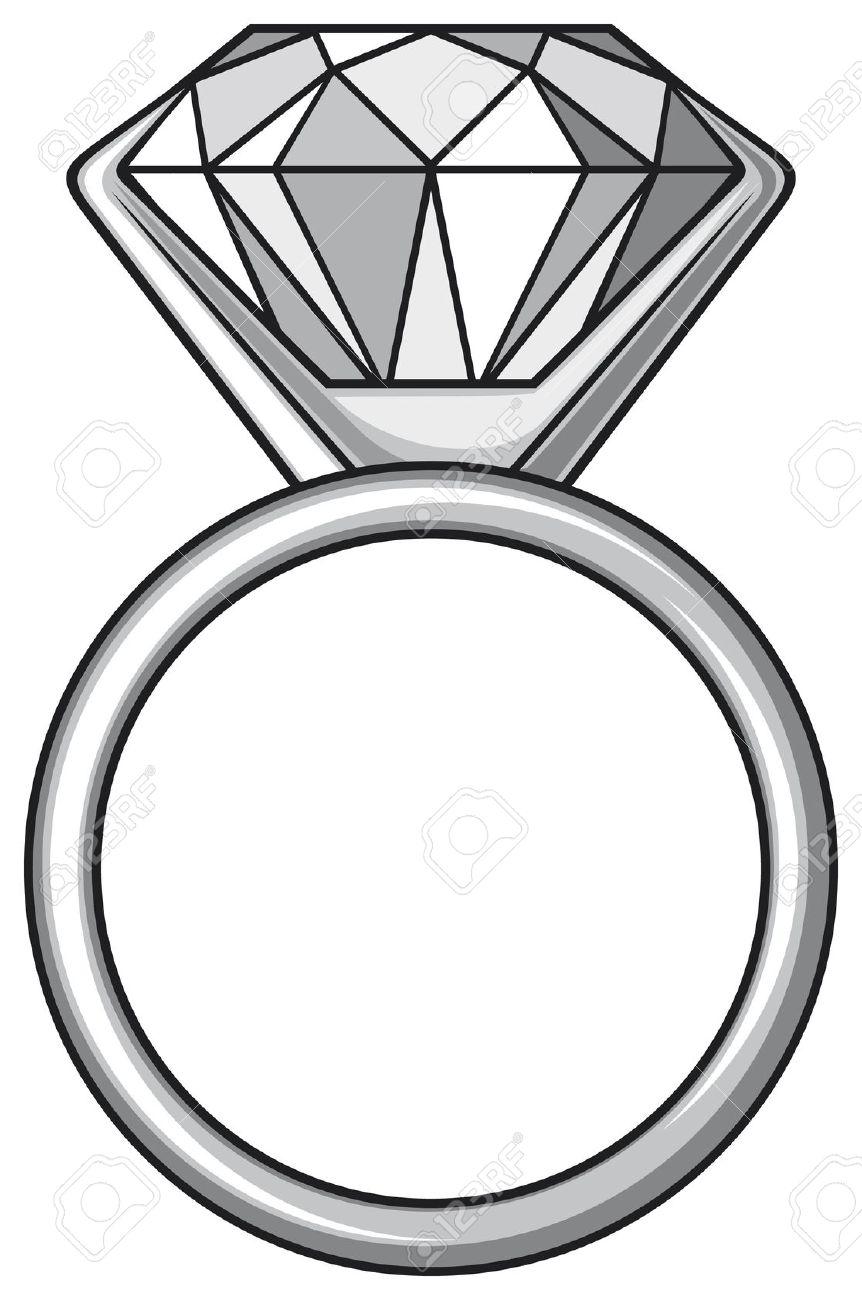 862x1300 Ring Clipart Diamond Sparkle