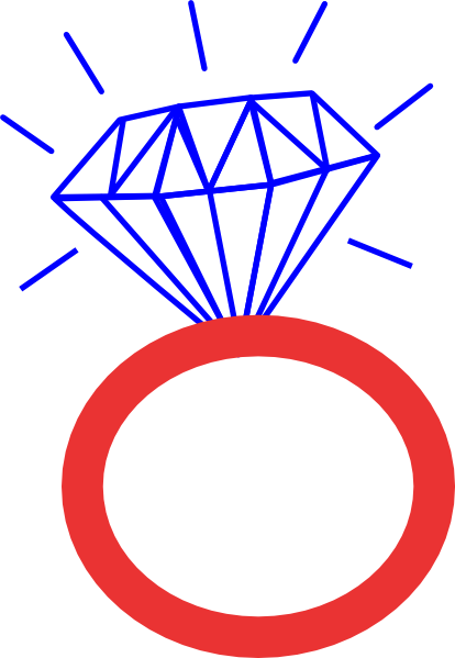 414x599 Ring Clipart Red Diamond