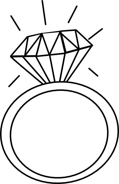 384x595 Wedding Ring Engagement Ring Clipart Clipartfest 2