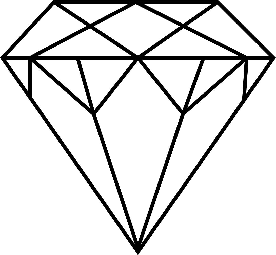 1090x1009 Diamond ring clip art black and white free