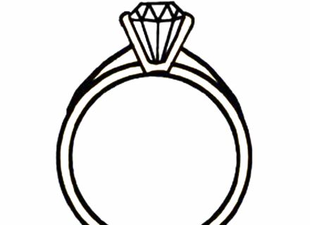 440x320 Ring Clipart Black And White
