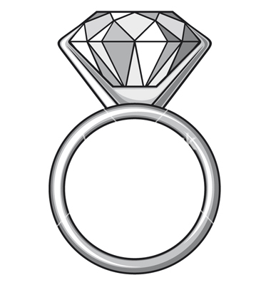 380x400 Vector And Diamond Ring Clipart Black And White Favorite 5