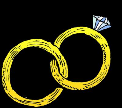 400x354 Wedding Ring Clip Art