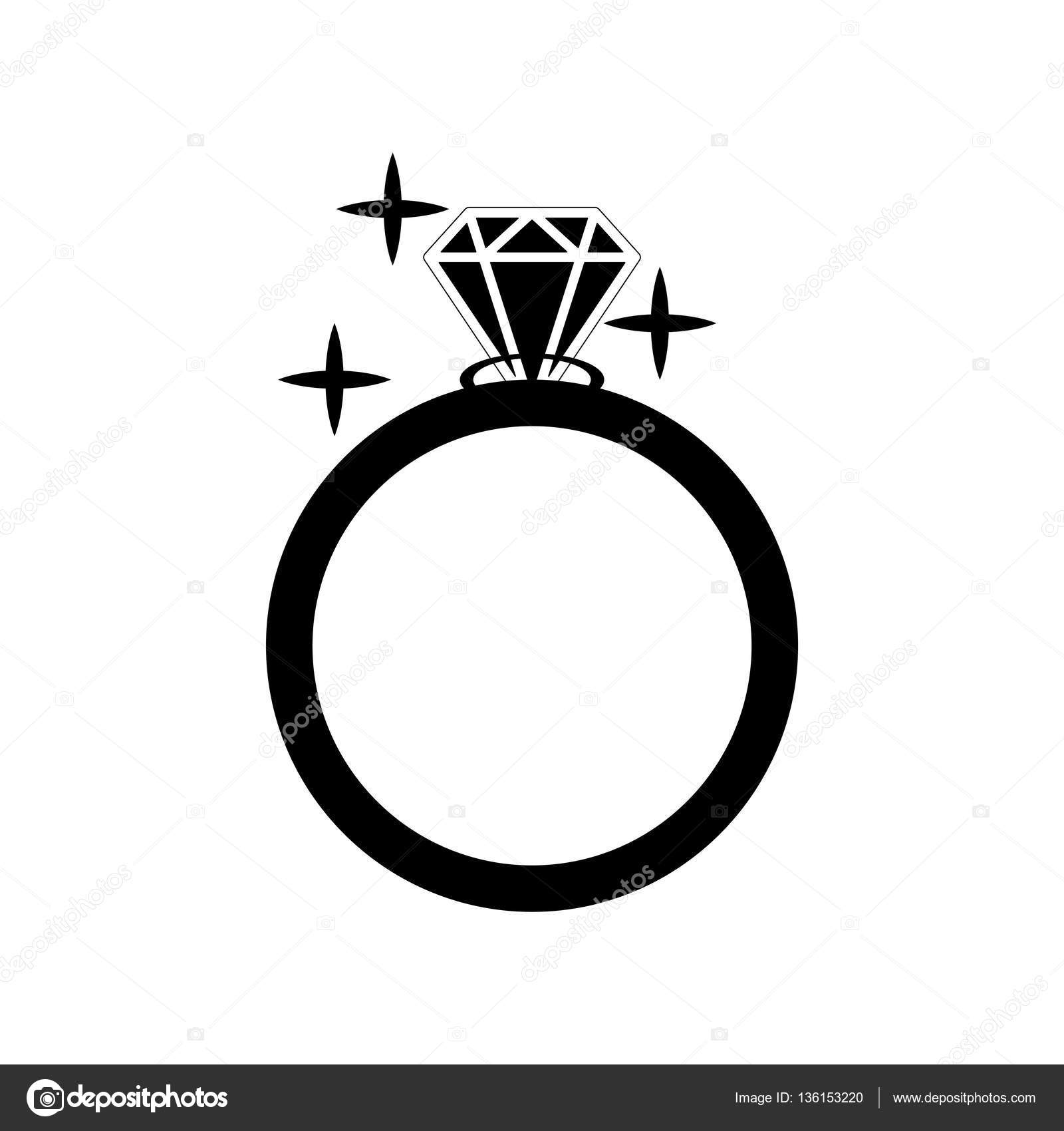 1600x1700 Diamond Engagement Ring Vector Icon. Vector Illustration. Shiny