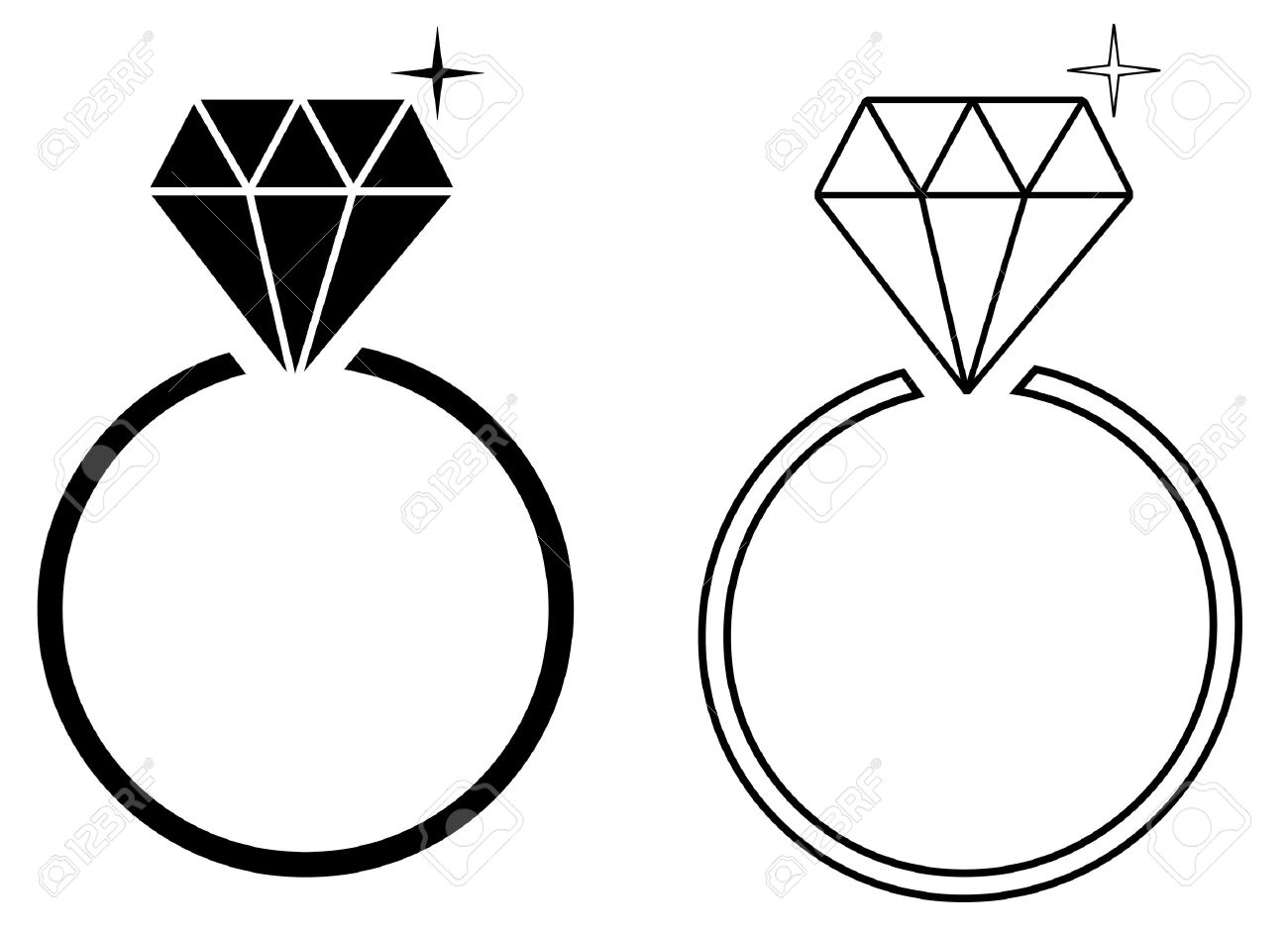 1300x944 Diamond Ring Vector
