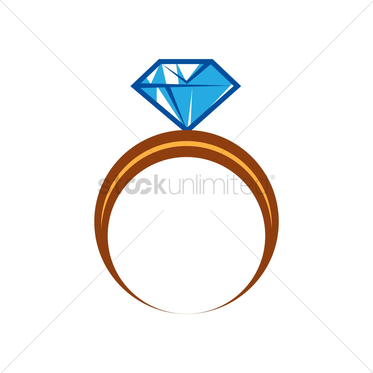 1300x1300 Diamond Ring Vector Image
