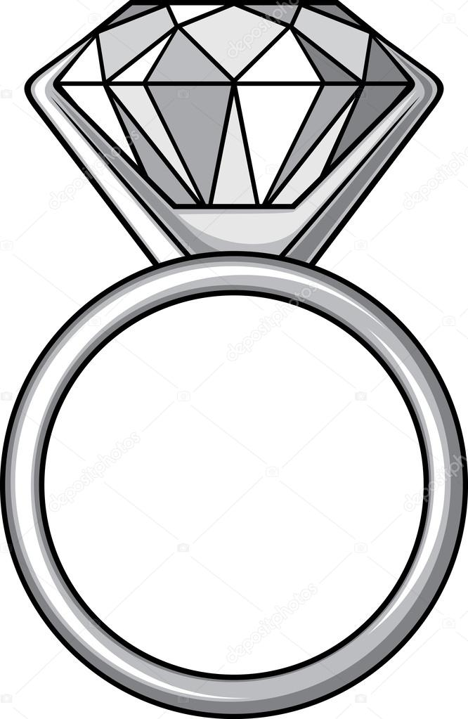 666x1023 Diamond Ring Stock Vector Tribaliumivanka