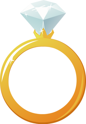 276x400 Free Engagement Ring Clipart Image