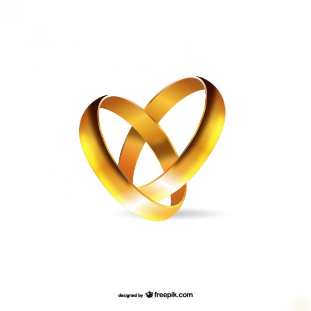 626x626 Gold Engagement Rings Vector Free Download