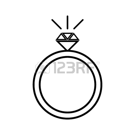 450x450 Diamond Engagement Ring Icon Simple Illustration Of Diamond