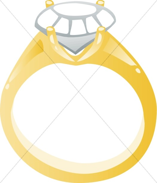 525x612 Diamond Engagement Ring Cartoon Christian Wedding Clipart