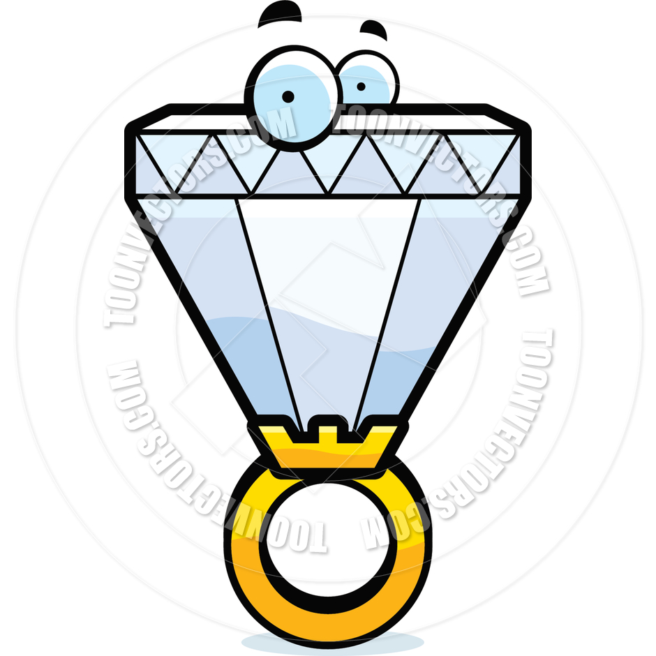 940x940 Cartoon Diamond Ring By Cory Thoman Toon Vectors Eps