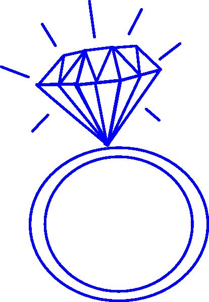 414x599 Diamond Ring Blue Clip Art