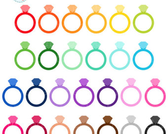 340x270 Rainbow Diamond Ring Etsy