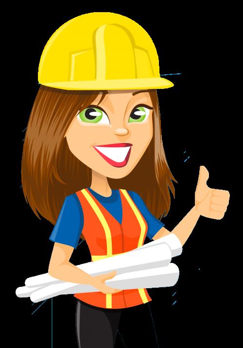 500x716 Girl Engineer Clipart
