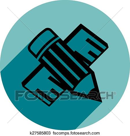 450x470 Clipart Of Industrial Professional Work Tools, Engineering Pencil