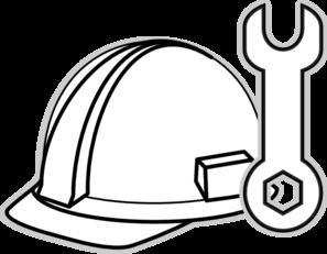 297x231 White Hard Hat Clip Art