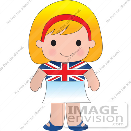 450x450 Clip Art Graphic Of A Blond Haired Poppy Character Of England