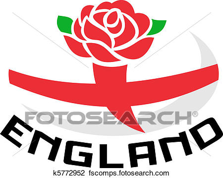 450x359 Clip Art Of Rugby England Rose Flag Ball K5772952
