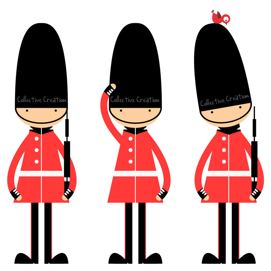900x900 Queen's Guards Digital Clipart Clip Art For By Collectivecreation