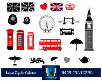 340x270 British Clipart Etsy