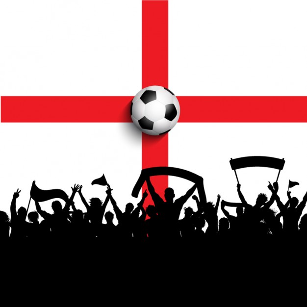 626x626 Celebration Football On A England Flag Vector Free Download
