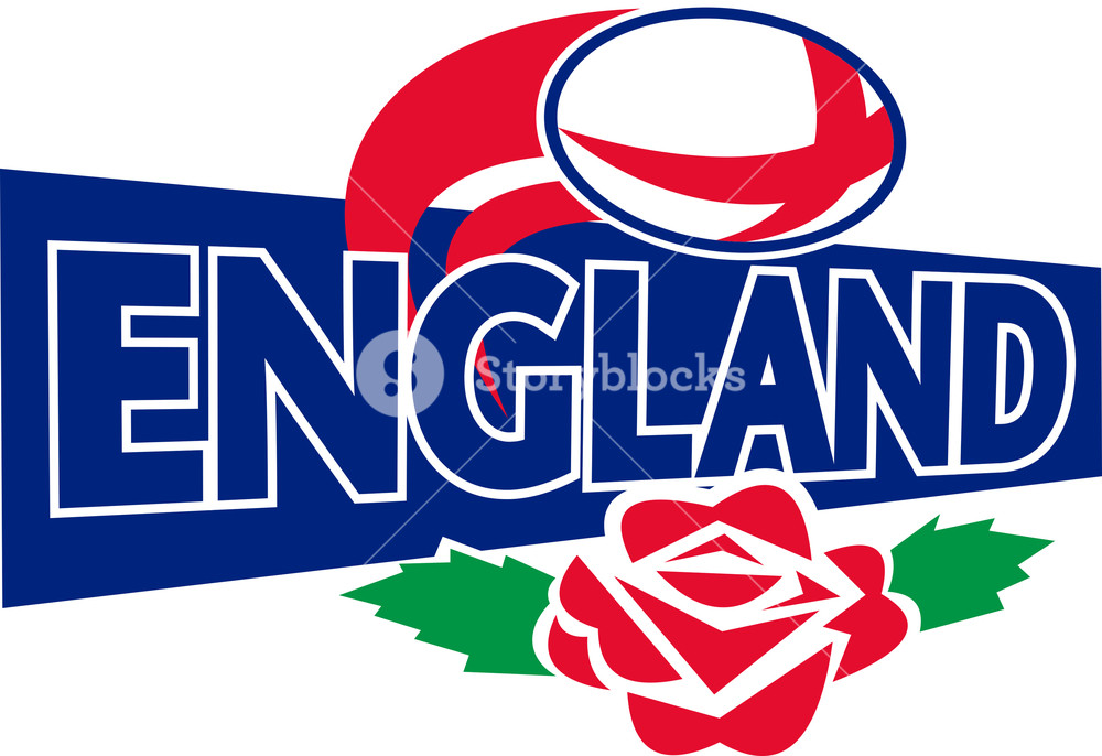 1000x686 Rugby Ball England English Rose Royalty Free Stock Image