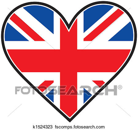 450x423 Drawing Of England Heart Flag K1524323