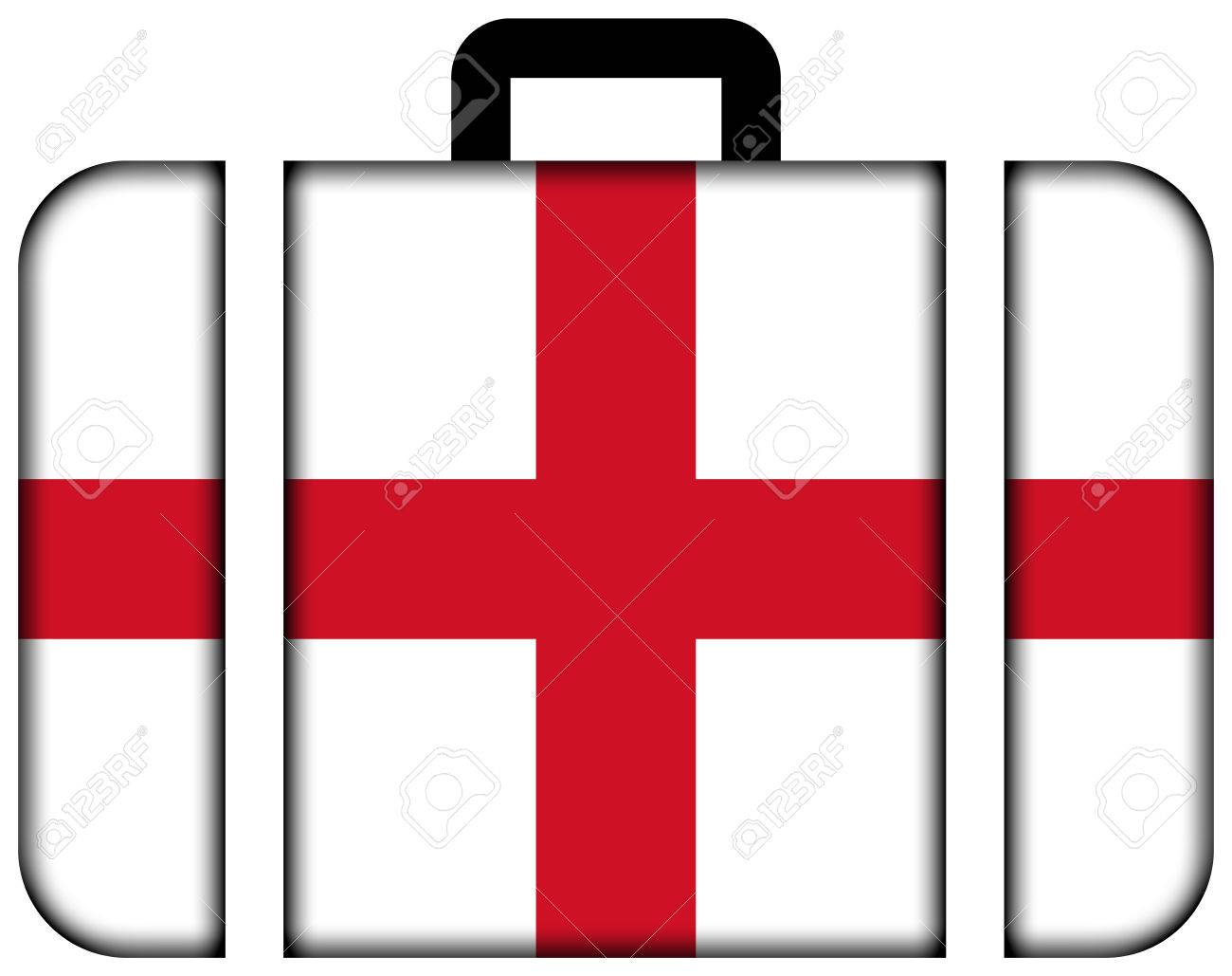 1300x1029 Suitcase With England Flag Stock Photo, Picture And Royalty Free