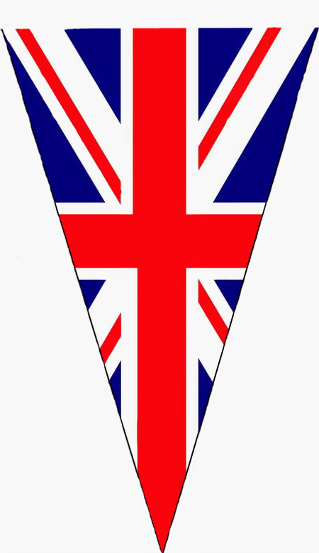 450x780 Union Jack Flag Bunting Clip Art
