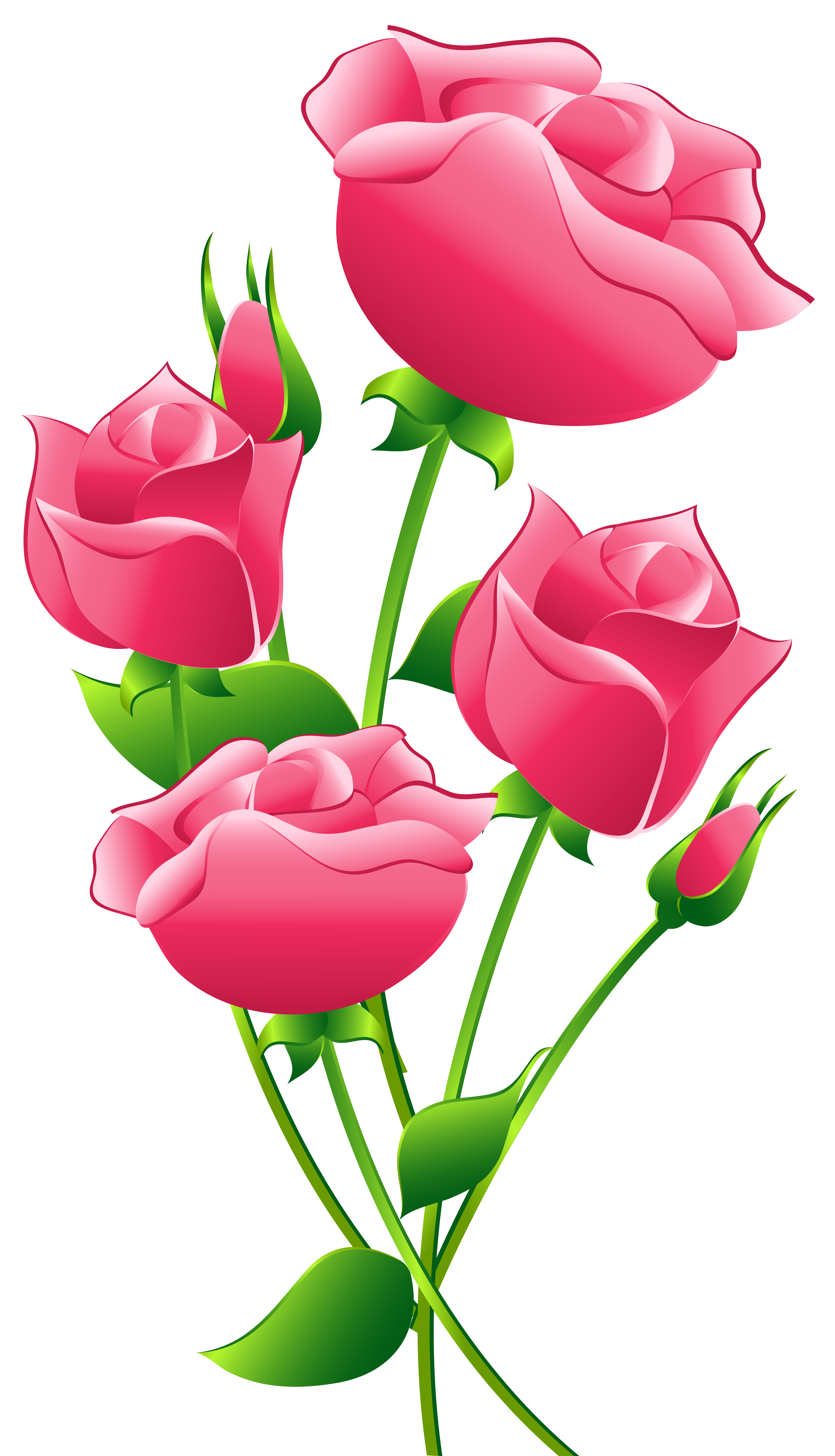5434x9473 Image Of Clip Art Red Rose 2 Red Roses Clip Art Images Free