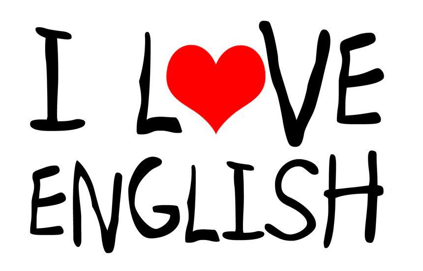 I Love / Heart ENGLISH 1 25mm Pin Button Badge School