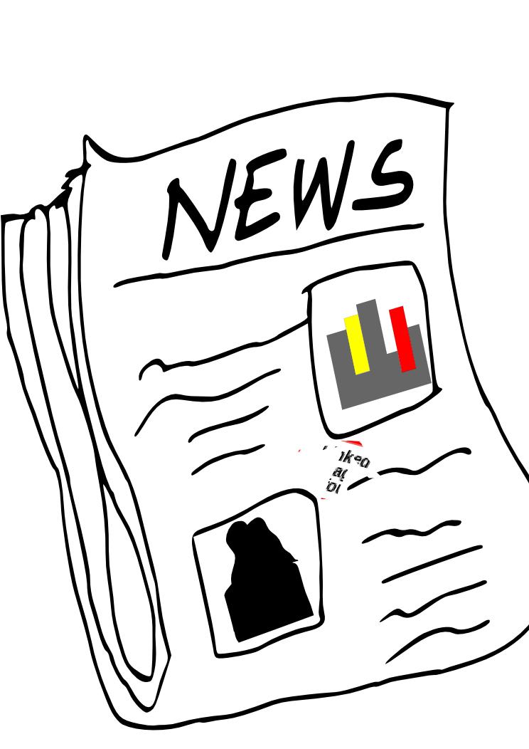 744x1052 Newspaper Clip Art