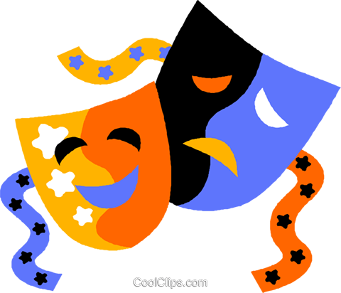480x412 Free Drama Masks Clipart
