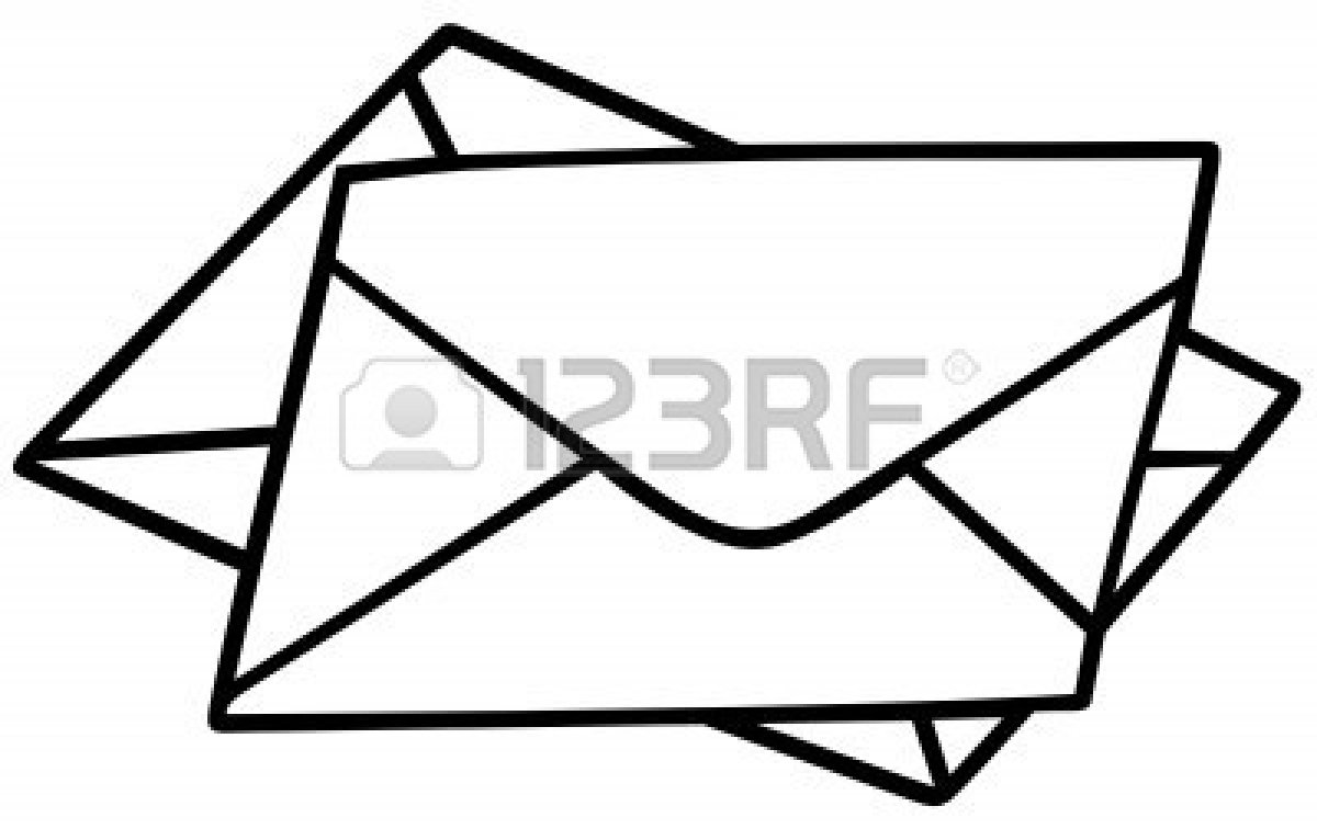 1200x756 Envelope Black And White Clipart