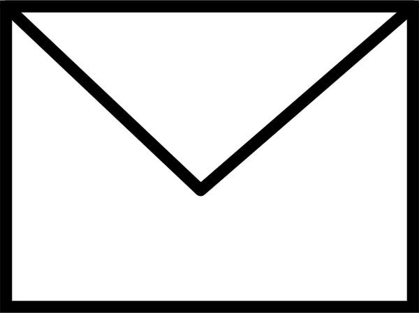 600x449 Envelope Closed Bampw Free Vector In Open Office Drawing Svg ( Svg