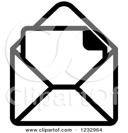 Envelope Clipart Black And White | Free download on ClipArtMag