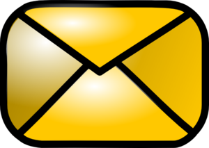 300x213 Closed Yellow Envelope Clip Art