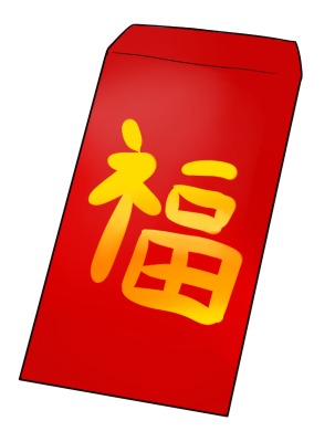 303x400 Free Red Envelope Clip Art