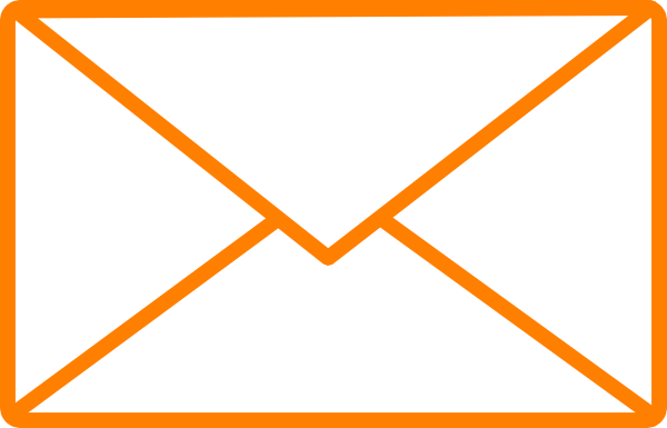 600x385 Orange Envelope Clip Art