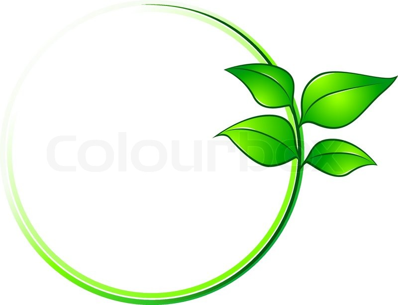 800x612 Environment Frame With Green Leaves For Ecology Design Stock