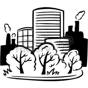 300x300 Royalty Free Eco Buildings Environment 062 386167 Vector Clip Art