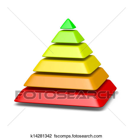 450x470 Clip Art Of 6 Levels Pyramid Structure Environment Concept
