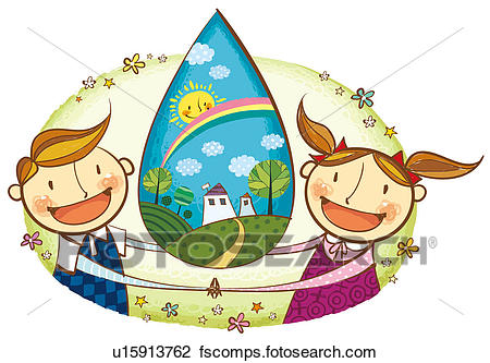 450x333 Clip Art Of Portrait Of Children Holding Eachother Hand With Clean