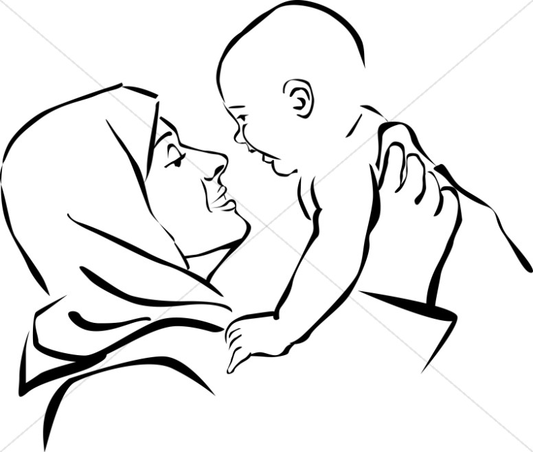 776x658 Clipart Mary And Jesus