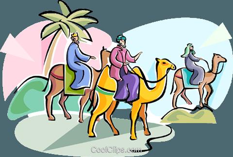 480x324 3 Wise Men Epiphany Royalty Free Vector Clip Art Illustration