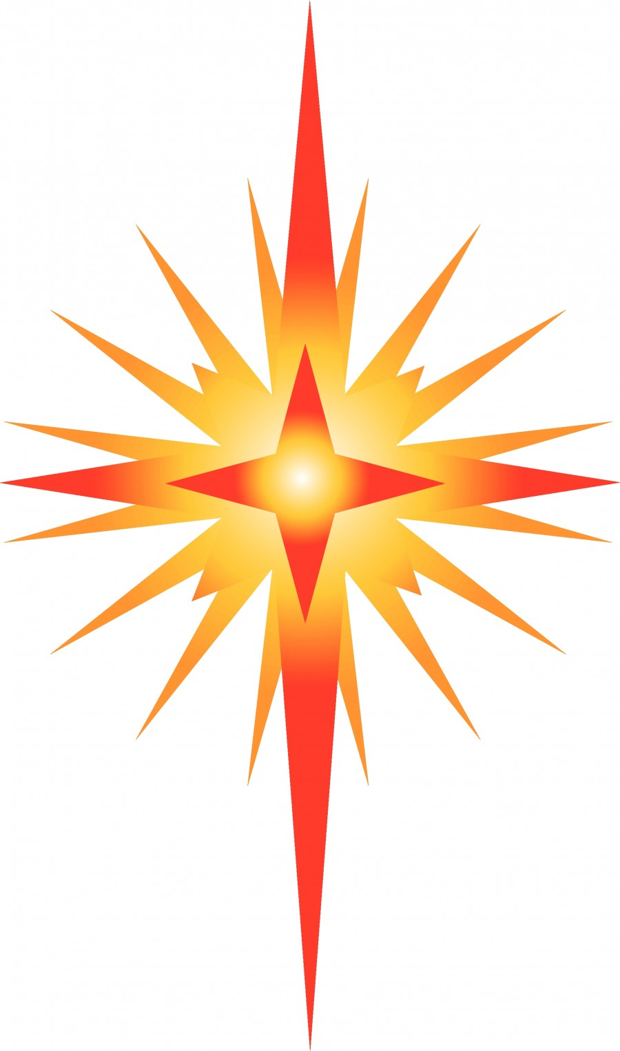 900x1526 Epiphany Star Clip Art